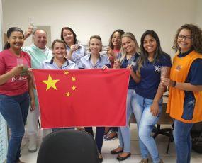 Primeiro contêiner para China