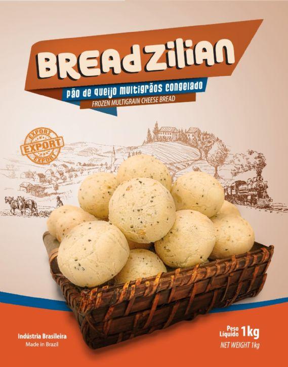 Pão de Queijo Multigrãos Congelado / Frozen Multigrain Cheese Bread
